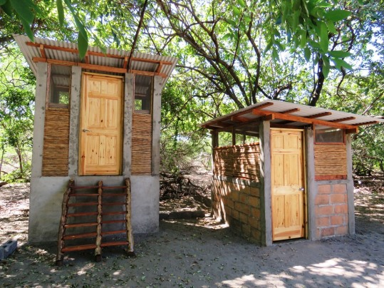 Our ecological toilet and shower